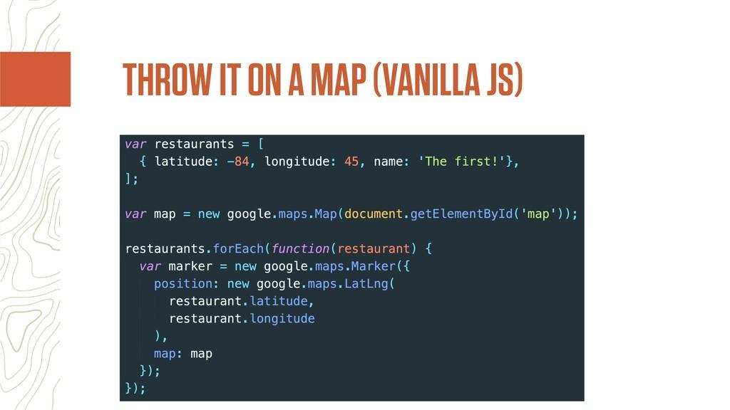 THROW IT ON A MAP (VANILLA JS)