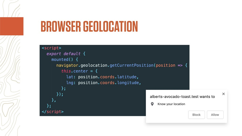 BROWSER GEOLOCATION