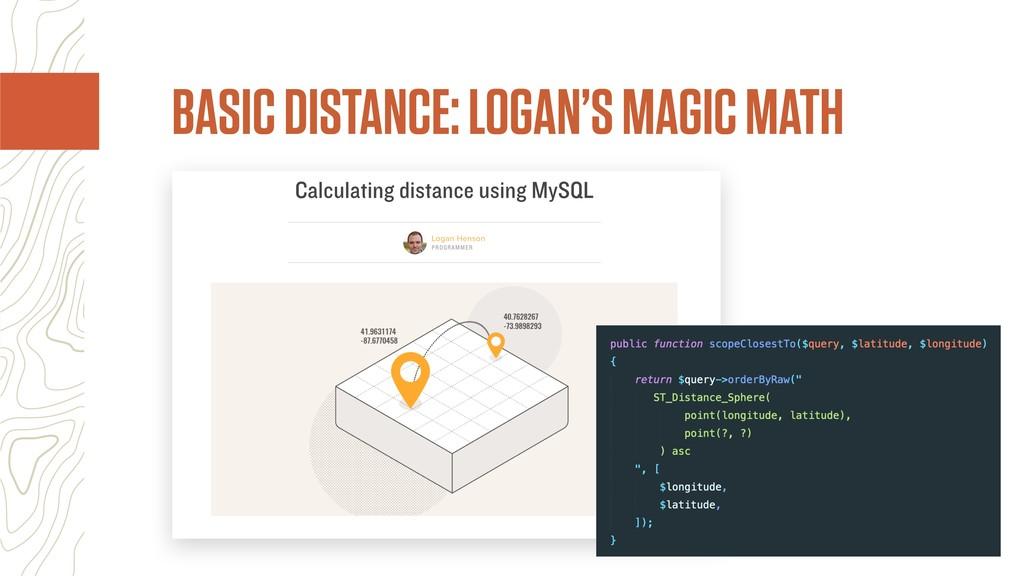 BASIC DISTANCE: LOGAN'S MAGIC MATH