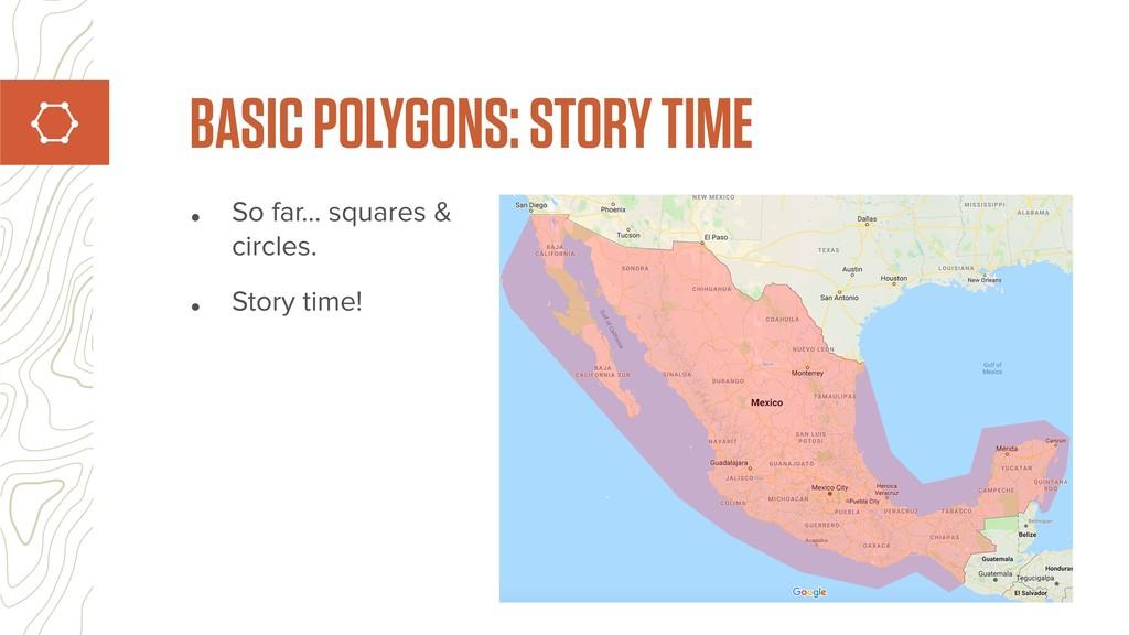 • So far… squares & circles. • Story time! BASI...