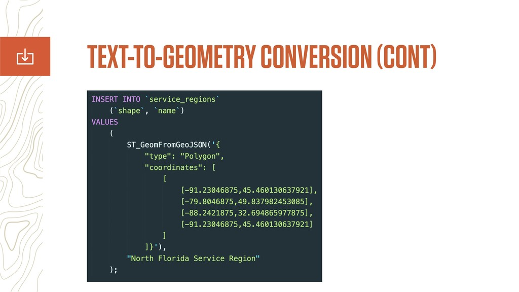 TEXT-TO-GEOMETRY CONVERSION (CONT)
