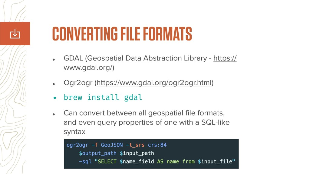 • GDAL (Geospatial Data Abstraction Library - h...