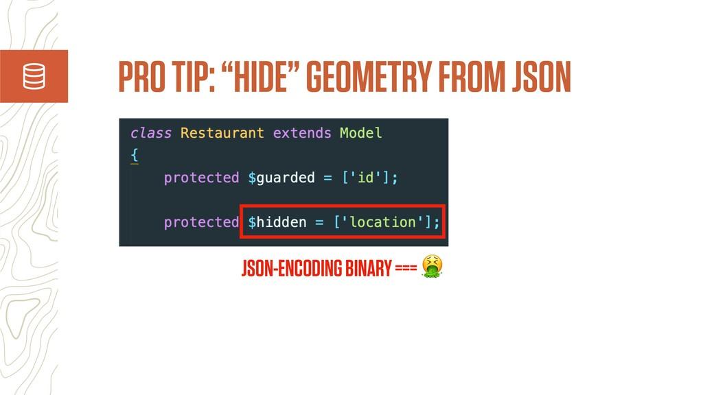 "PRO TIP: ""HIDE"" GEOMETRY FROM JSON JSON-ENCODIN..."