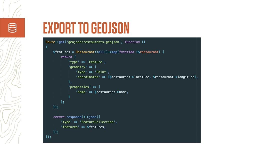 EXPORT TO GEOJSON
