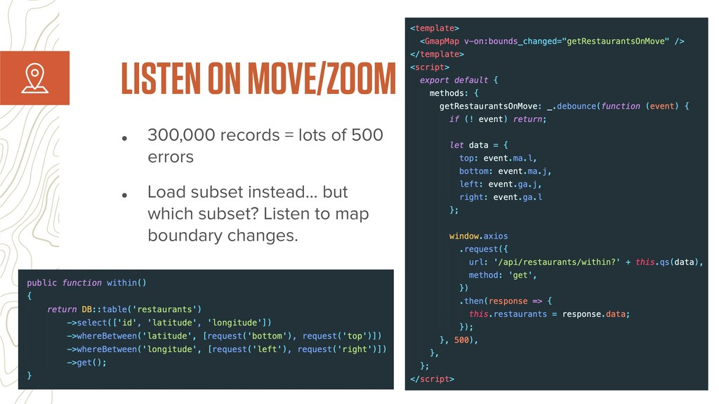 • 300,000 records = lots of 500 errors • Load s...