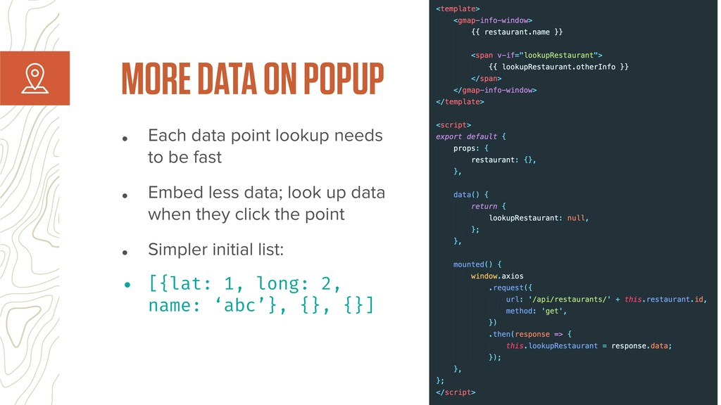 • Each data point lookup needs to be fast • Emb...