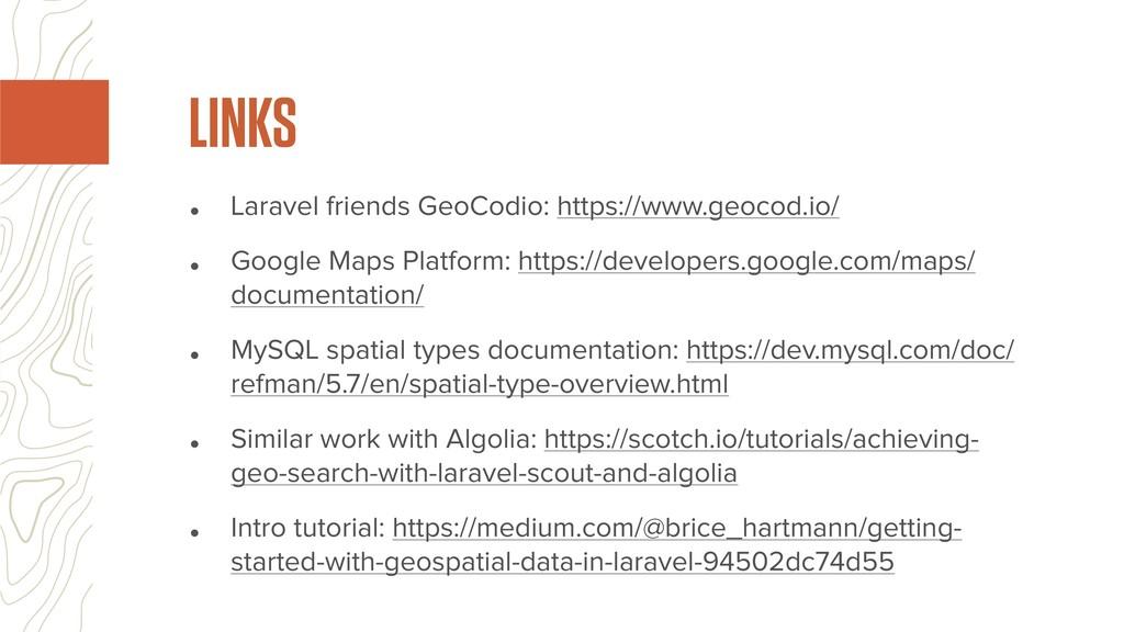 • Laravel friends GeoCodio: https://www.geocod....