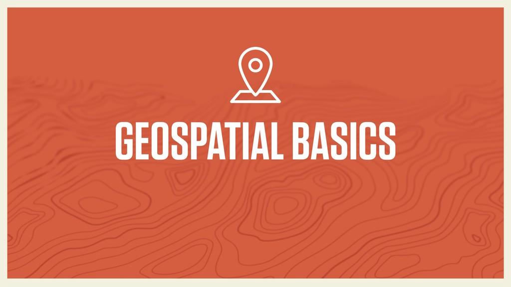 GEOSPATIAL BASICS