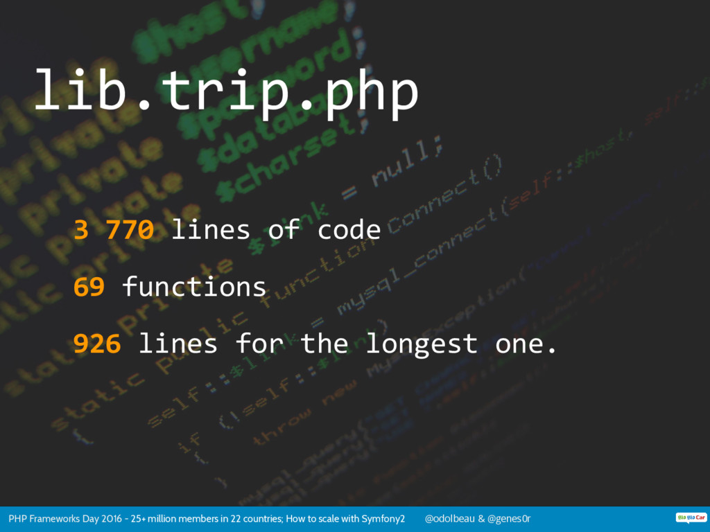 PHP Frameworks Day 2016 - 25+ million members i...