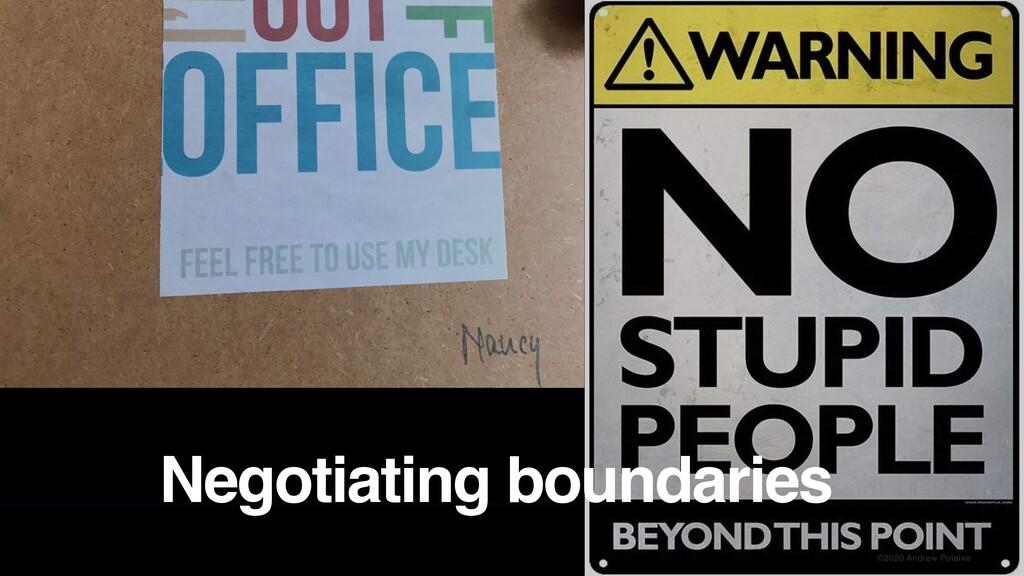 ©2020 Andrew Polaine Negotiating boundaries