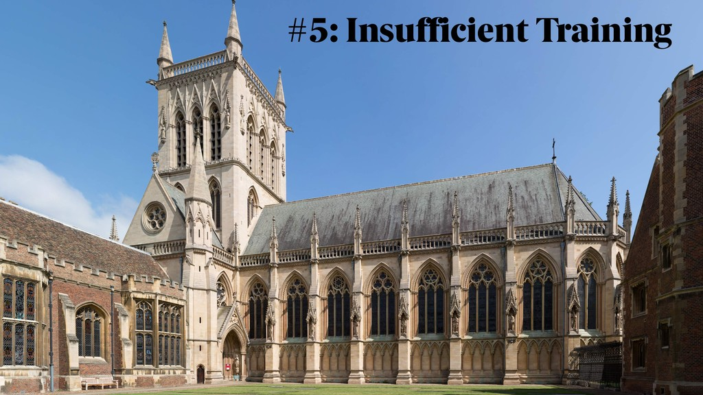 #5: Insufficient Training