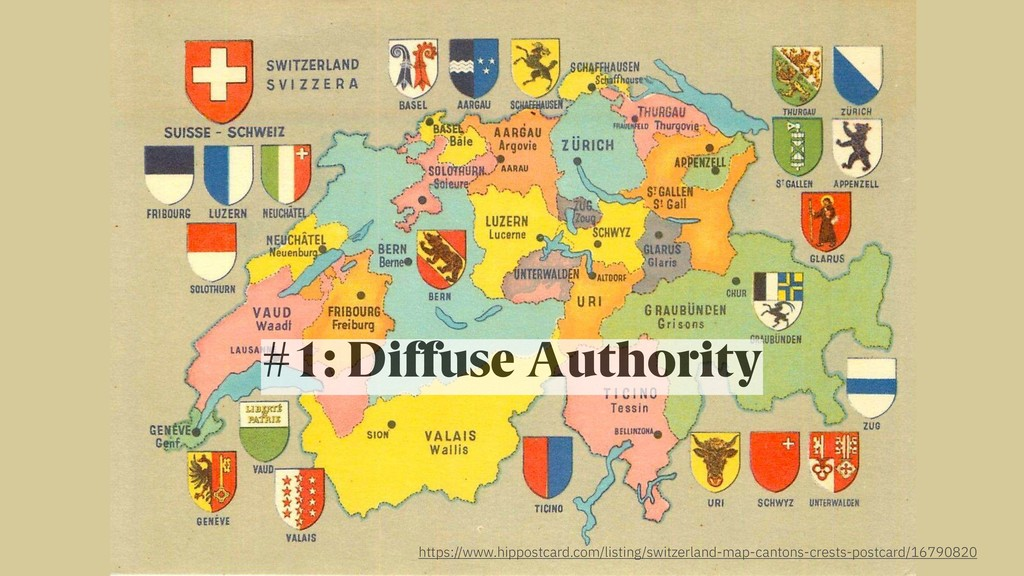 #1: Diffuse Authority https://www.hippostcard.c...