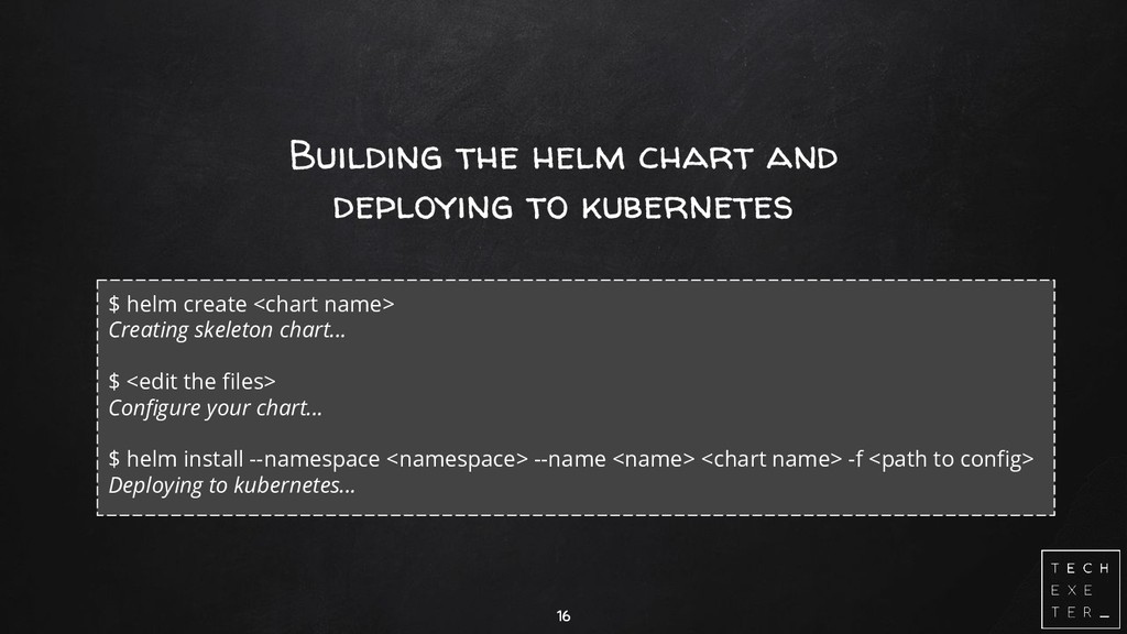 Building the helm chart and deploying to kubern...