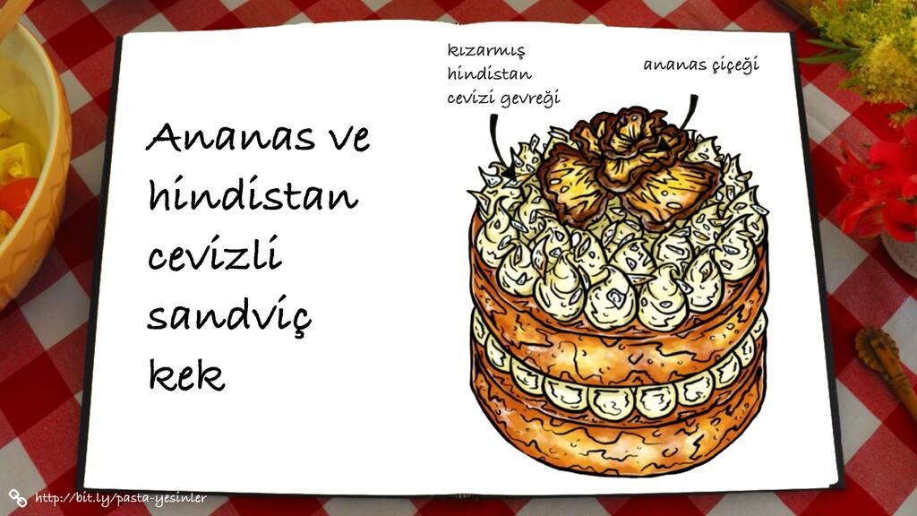 Ananas ve hindistan cevizli sandviç kek http://...
