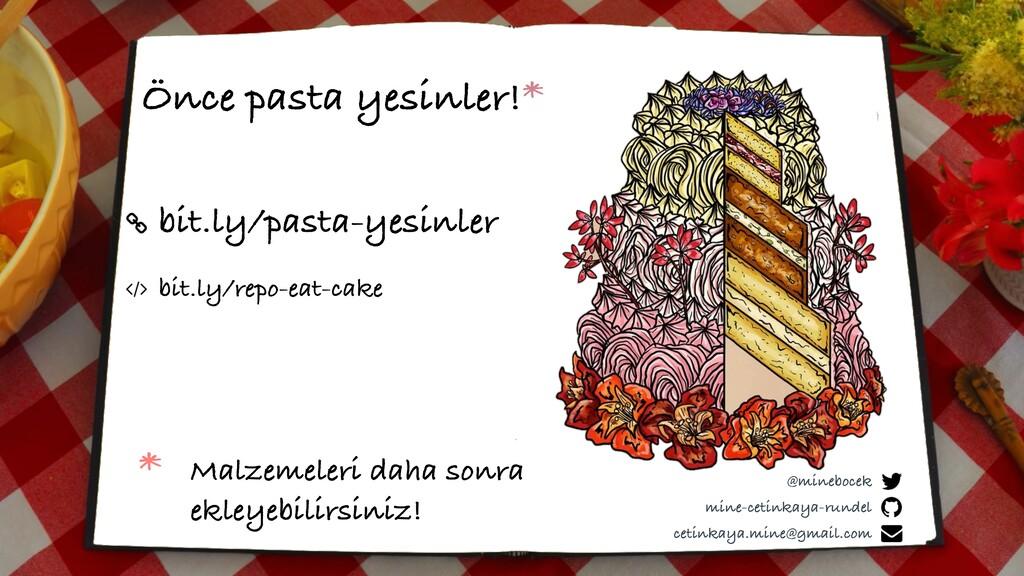 bit.ly/pasta-yesinler Önce pasta yesinler!* min...
