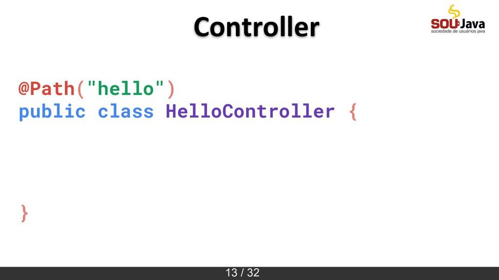 """13 / 32 @Path(""""hello"""") public class HelloContro..."""