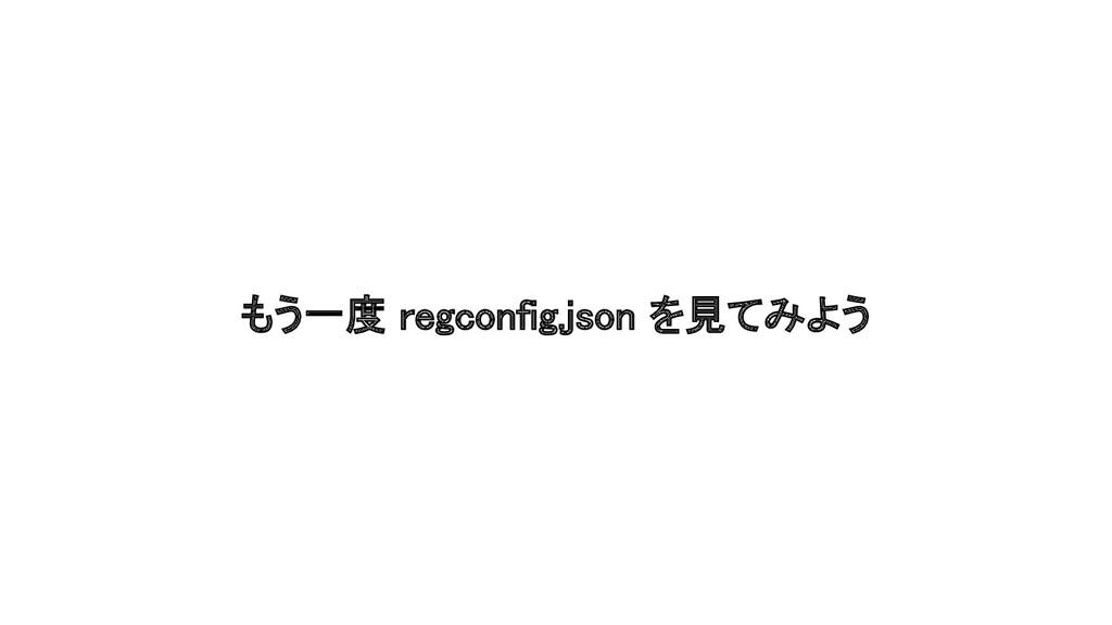 もう一度 regconfig.json を見てみよう