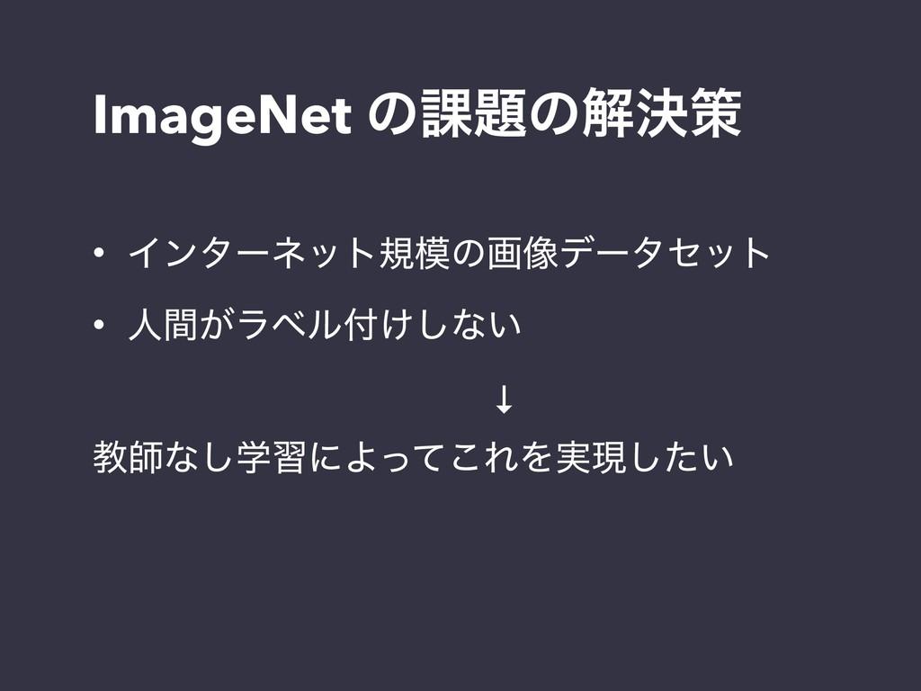 ImageNet ͷ՝ͷղܾࡦ • Πϯλʔωοτنͷը૾σʔληοτ • ਓ͕ؒϥϕϧ...