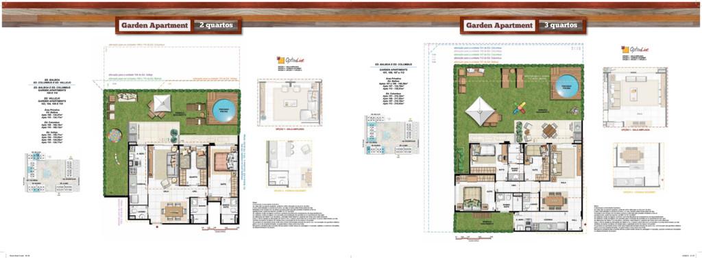 Garden Apartment 2 quartos Garden Apartment 3 q...