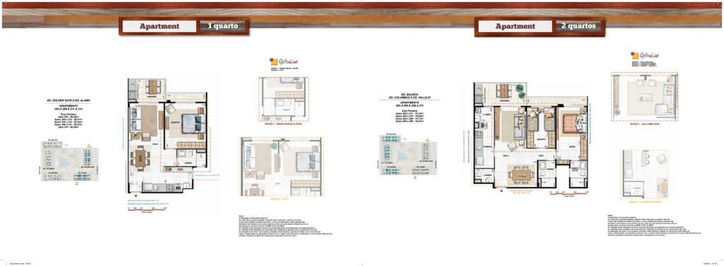 Apartment 1 quarto Apartament 2 quartos Apartme...