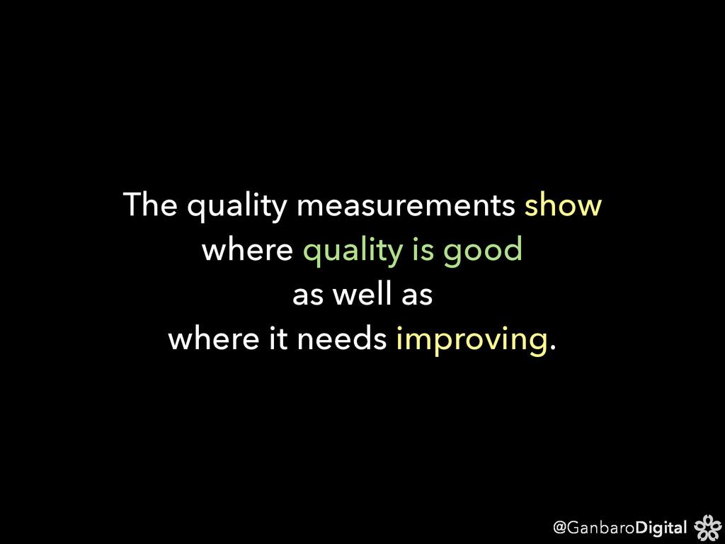 @GanbaroDigital The quality measurements show w...