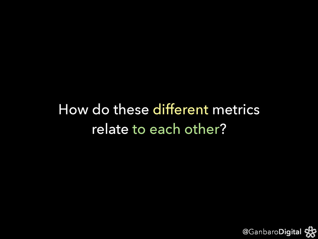 @GanbaroDigital How do these different metrics ...