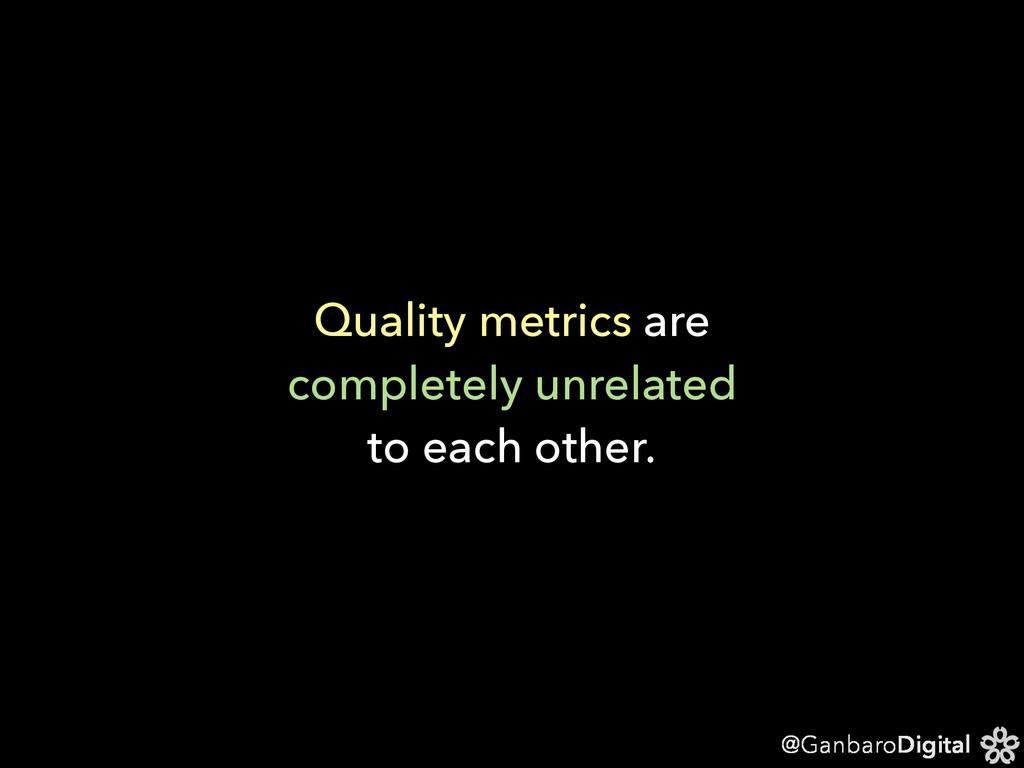 @GanbaroDigital Quality metrics are completely ...