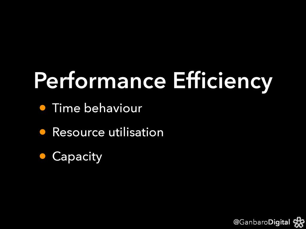 @GanbaroDigital Performance Efficiency • Time be...