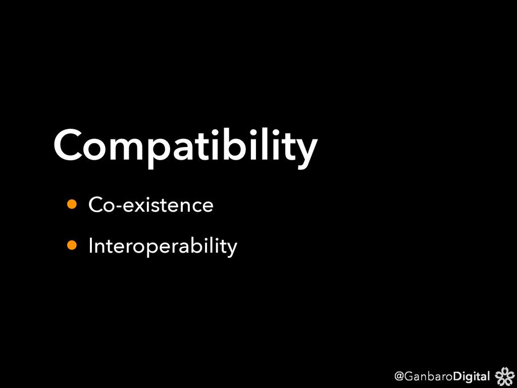 @GanbaroDigital Compatibility • Co-existence • ...