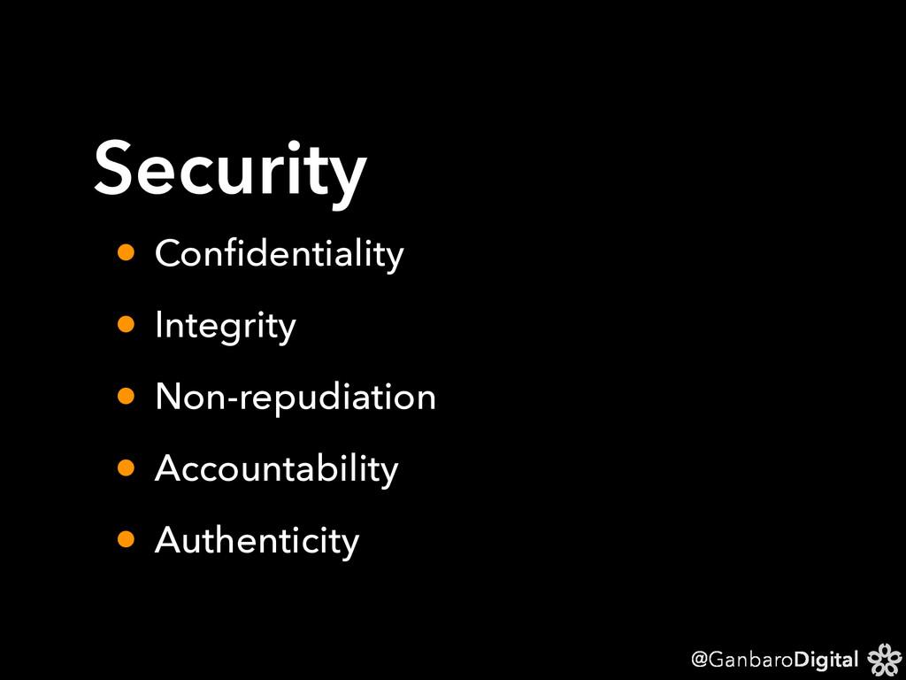 @GanbaroDigital Security • Confidentiality • Int...