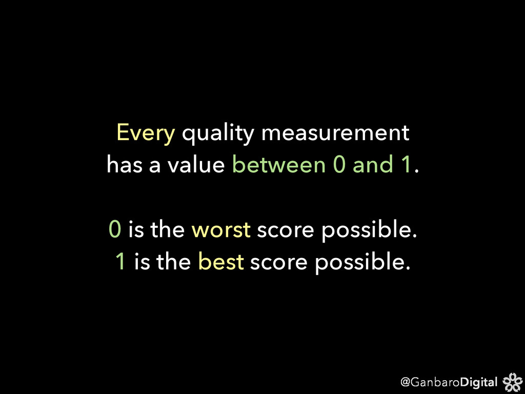 @GanbaroDigital Every quality measurement has a...
