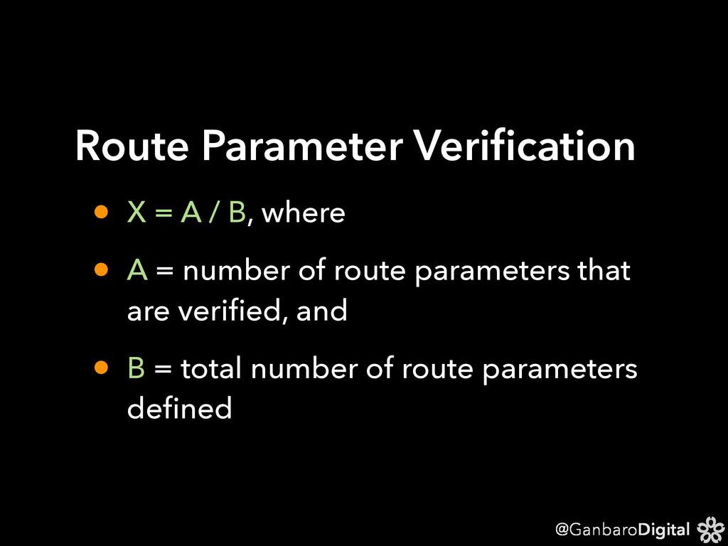 @GanbaroDigital Route Parameter Verification • X...