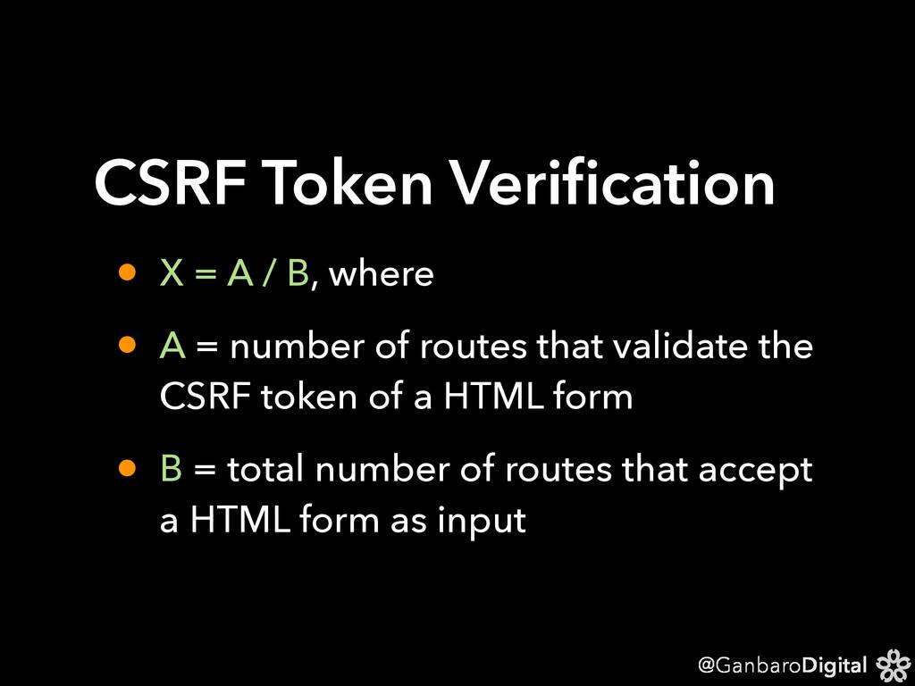 @GanbaroDigital CSRF Token Verification • X = A ...
