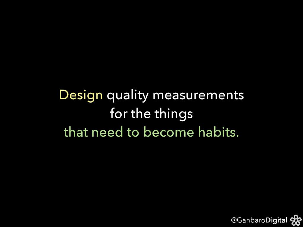 @GanbaroDigital Design quality measurements for...