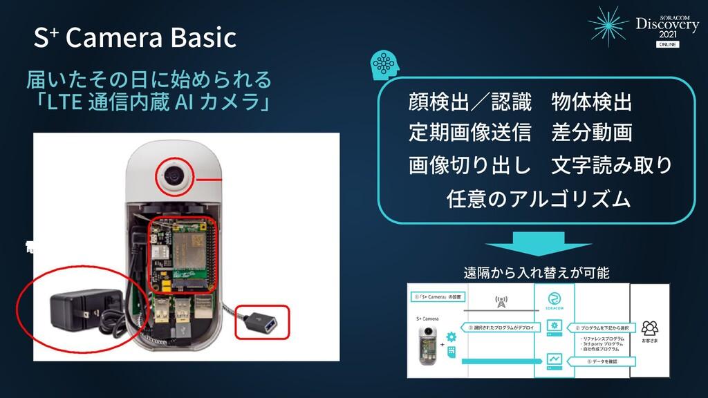 S+ Camera Basic 遠隔から入れ替えが可能 届いたその日に始められる 「LTE 通...