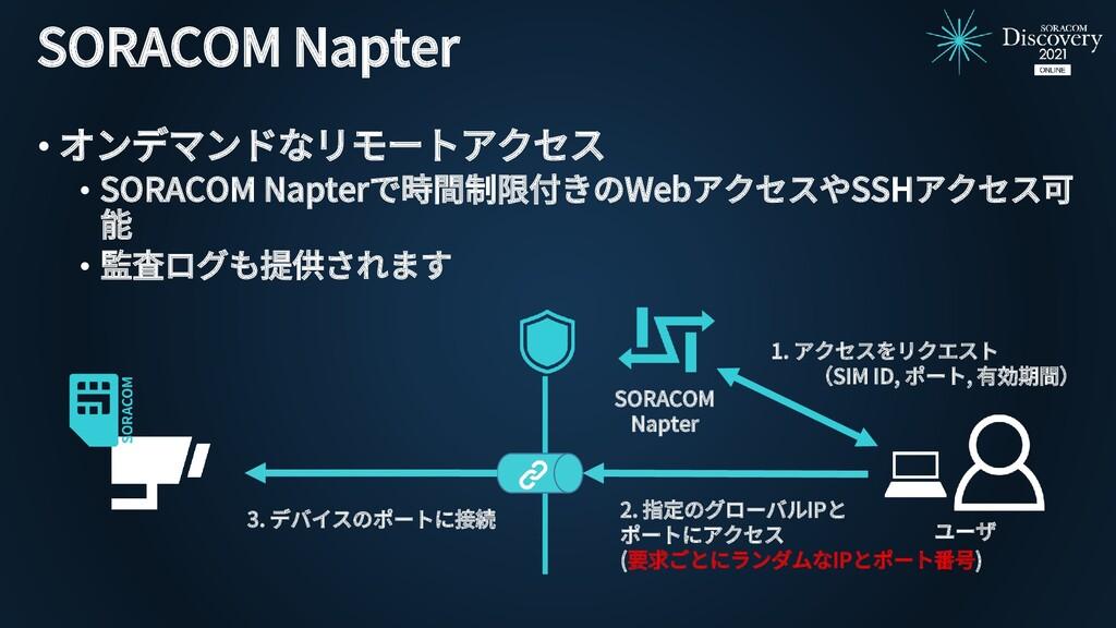 SORACOM Napter • オンデマンドなリモートアクセス • SORACOM Napt...
