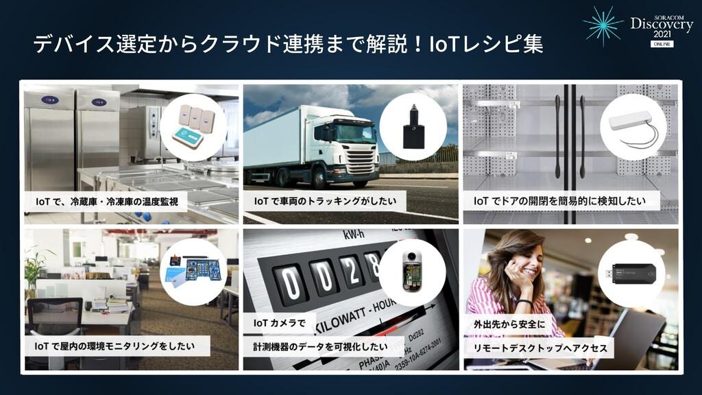 デバイス選定からクラウド連携まで解説!IoTレシピ集