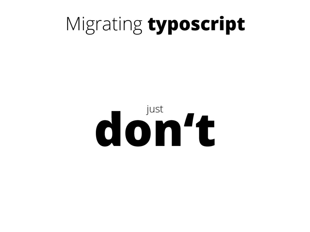 Migrating typoscript just don't