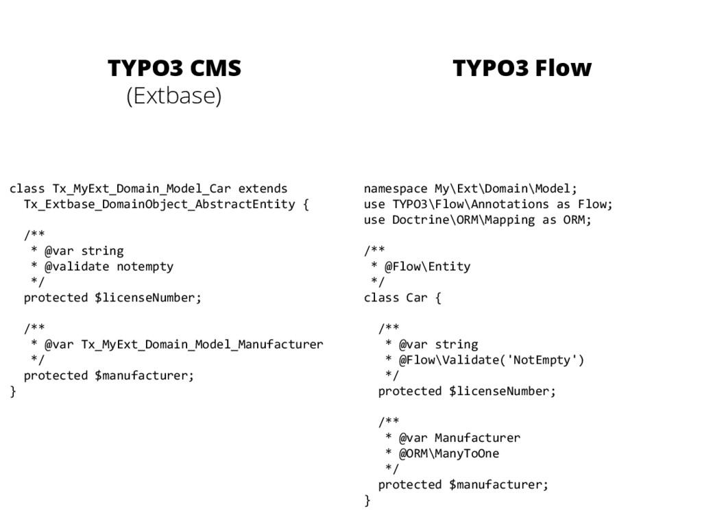 TYPO3 CMS (Extbase) TYPO3 Flow class Tx_MyEx...