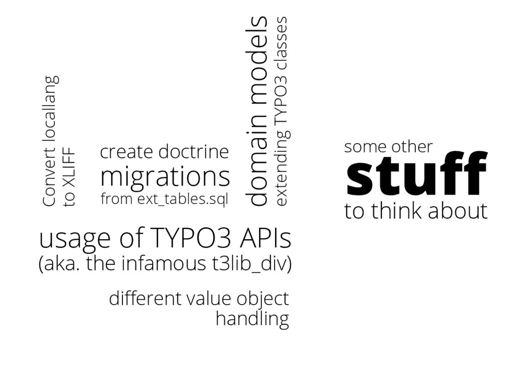 some other stuff to think about usage of TYPO3 A...