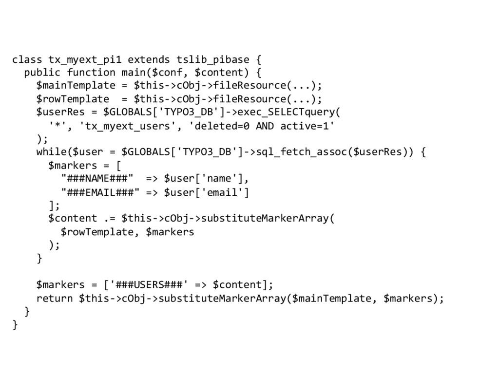 class tx_myext_pi1 extends tslib_pibas...