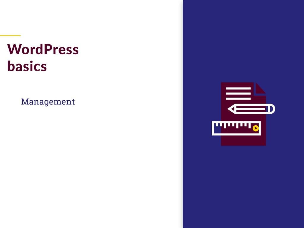 Management WordPress basics