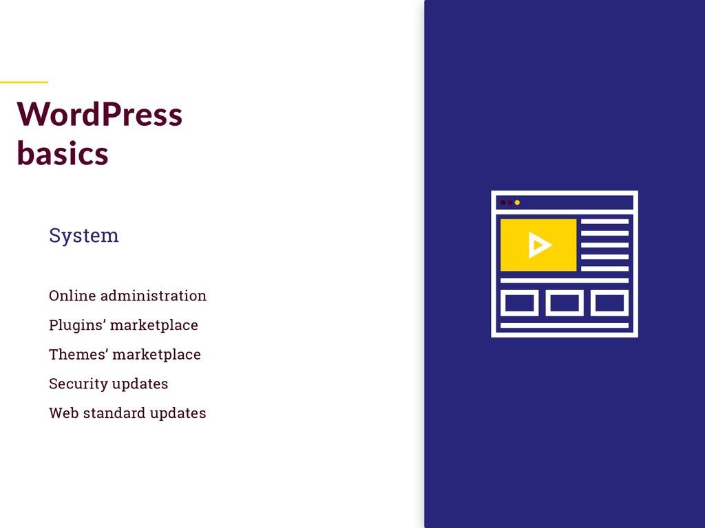 System Online administration Plugins' marketpla...