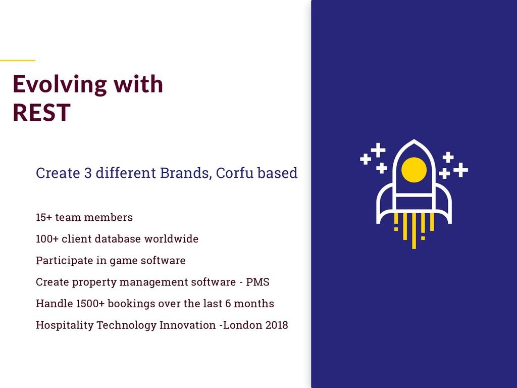 Create 3 different Brands, Corfu based 15+ team...