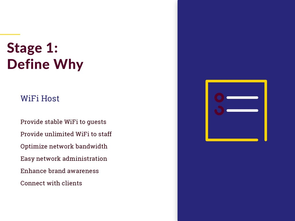 WiFi Host Provide stable WiFi to guests Provide...
