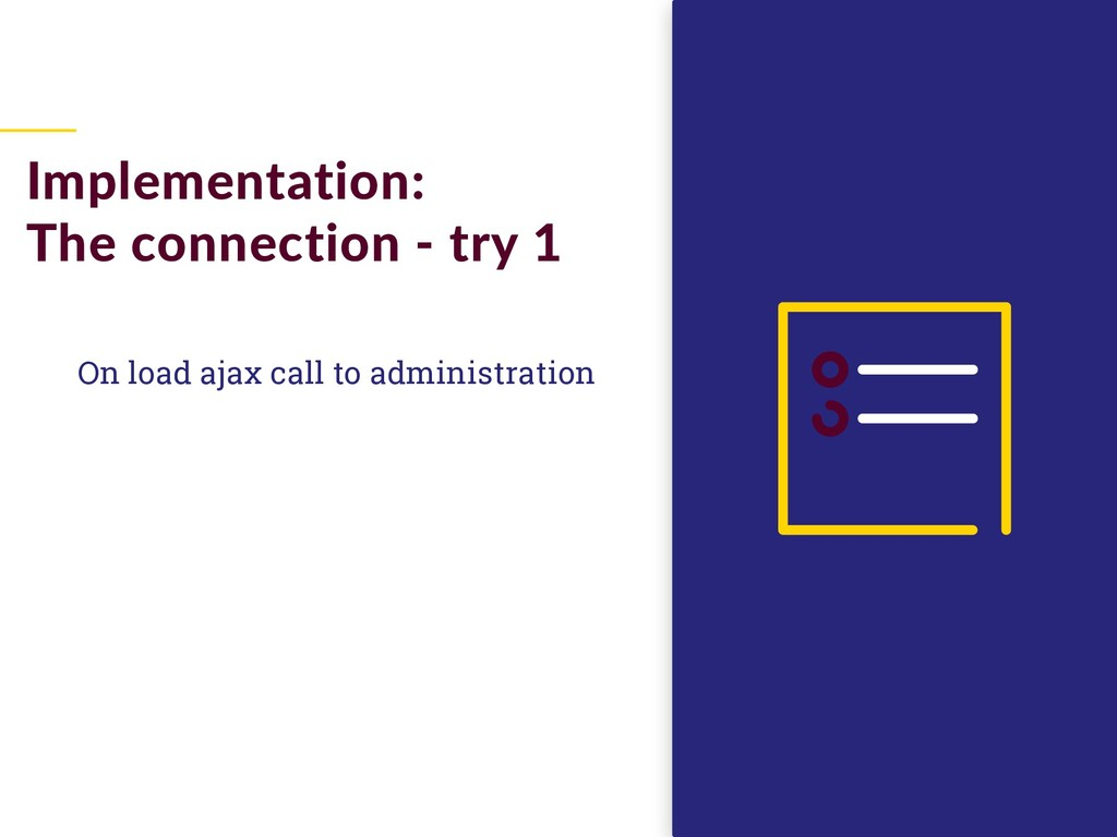 On load ajax call to administration Implementat...