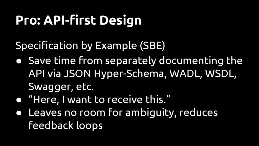 Pro: API-first Design Specification by Example ...
