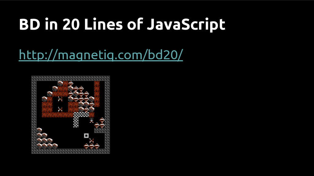 BD in 20 Lines of JavaScript http://magnetiq.co...