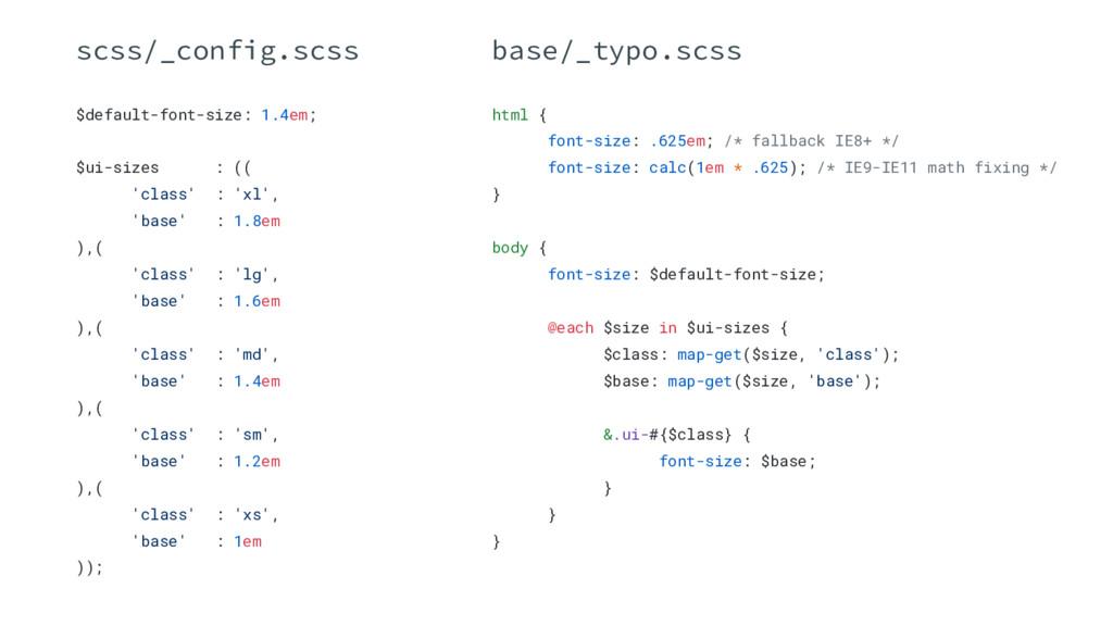 $default-font-size: 1.4em; $ui-sizes : (( 'clas...
