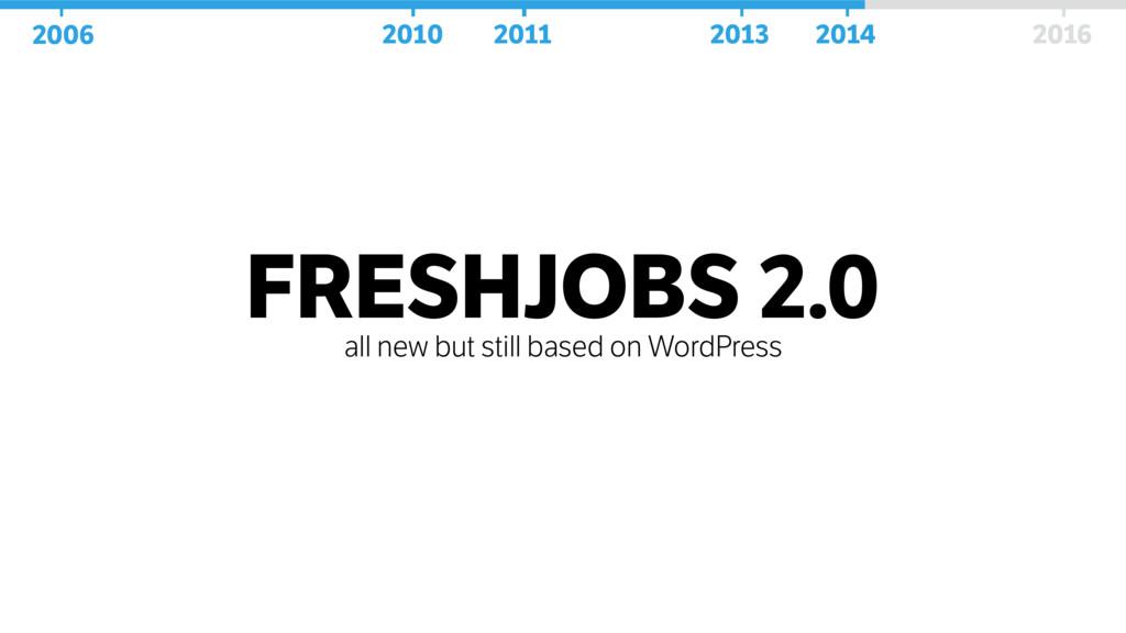 FRESHJOBS 2.0 all new but still based on WordPr...